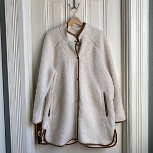 Old Navy Long Sherpa Faux Suede Lined Coat